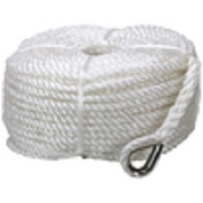 3 Strand Polyester Anchor Rope Coil 50mt with Stainless Steel Thimble